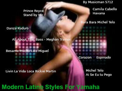 "Styles pour Yamaha Genos-Tyros-Psr  ""LATINO Modern "" - Download - Nouveau - New!"