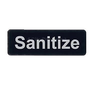 Update S39-35BK 3in x 9in Sanitize Sign