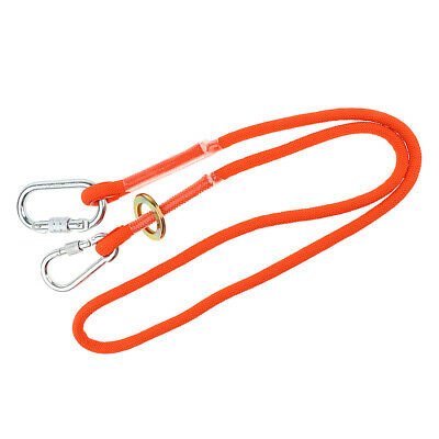 Lovoski Outdoor Climbing Arborist Safety Lanyard with Hook Fall Protection