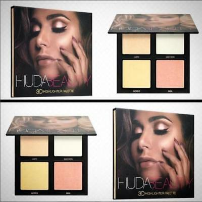 New Huda Beauty 3D Highlighter Palette GOLDEN SANDS ❤️PINK SANDS Edition Make up