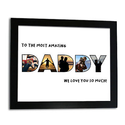 Personalised Amazing Daddy Framed Print Christmas Gift For Dad Add Your Photos