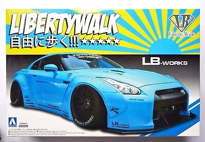 AOSHIMA 1/24 LB works GT-R R35 Ver.1 Liberty Walk series #09 scale model kit