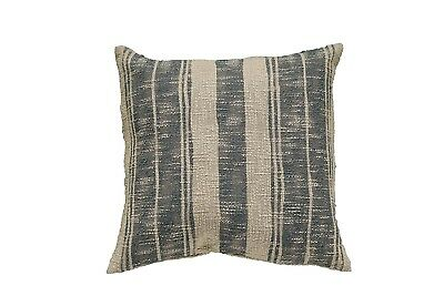 Creative Co-Op DA6408 Casual Country Beige & Charcoal Stripe Pillow