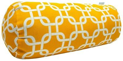 (Yellow) - Majestic Home Goods 18.5 x 7 Round Outdoor Bolster. Huge Saving