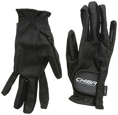(Medium, Black) - Chiba Gloves Wet Grip Horse Riding Glove. Free Delivery
