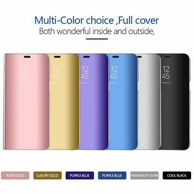 New Samsung Galaxy S8 PLUS Smart View Mirror Leather Flip Stand Case Cover