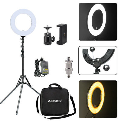 """SMD LED 14"""" Ring Light Dimmable 5500K Continuous Lighting Photo Video Stand Kit"""