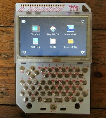 NEXT THING POCKETCHIP handheld Linux computer w/ DIP touch screen keyboard  WiFi