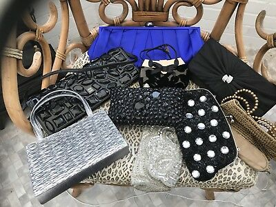 Job Lot Of 9 Assorted Evening Bags