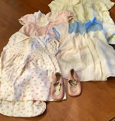 LOT OF VINTAGE 1950's BABY CLOTHING GIRL 1 YR