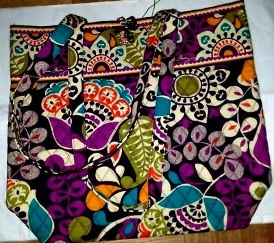 Vera Bradley Plum Crazy Tote Purse--new with tags- #10449-137