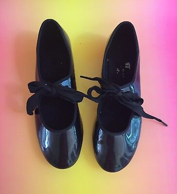 Kids Tap Shoes, Tap Dance, Black, Lace Up, Great Condition! US Size 2