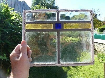 Antique Stained Glass Window Panel Old Antique Leaded Victorian sizes in pics