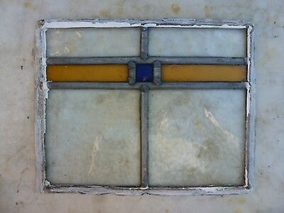 Antique Stained Glass Window Panel Old Antique Leaded Victorian