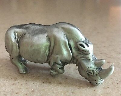 Hudson Pewter Rhinoceros Noah's Ark Collection Male RHINO #8478 Retired