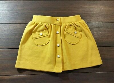 Janie and Jack Classic Garden Knit Skirt Mustard Yellow Infant 6-12 months