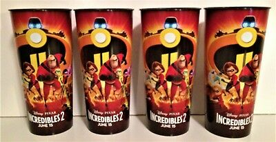 Disney: Incredibles 2 Movie Theater Exclusive Four 44 oz Cups #2