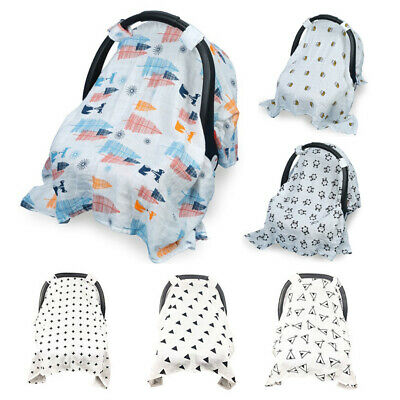 Baby Stroller Pram Car Seat Cover Blanket Breathable Cotton Sun Shade Canopy