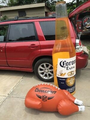 6' Corona Extra Beer & Coots Light Beer Blow Up Decor Man Cave Garage