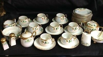 Mixed Lot of 40 Vintage DAISY Tea Cups Saucers Sugar Bowl Plates Gold Trim