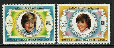 Comoro Is. #546-7 Mint Never Hinged Set - Princess Diana's Birthday