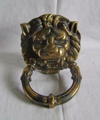 Vintage Brass Lion Head Victorian Style Door Knocker with fixing bolts