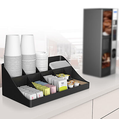 Compartment 2 Tier Breakroom, Kitchen Coffee/ Tea Condiment Storage Customer