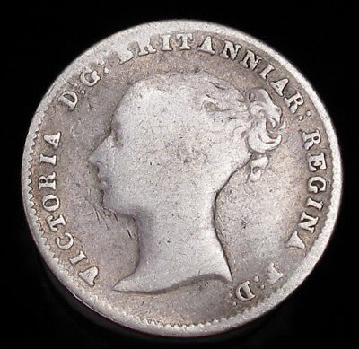 1845 Great Britain Four 4 Pence KM# 731.1 silver coin