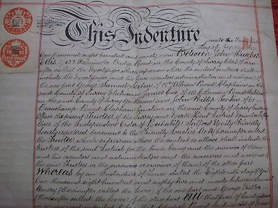 Old Legal Assignment Dated 1897 For Land In Mitcham - Order Of Rechabites