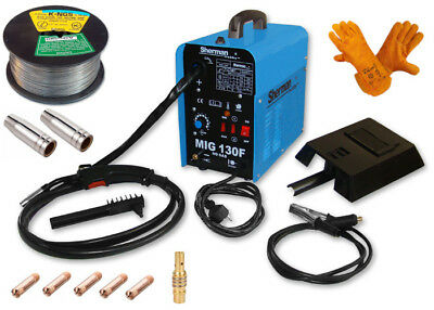 SET MIG 130F Sherman 120AMP Semi Auto GASLESS Welding Machine Welder FLUX