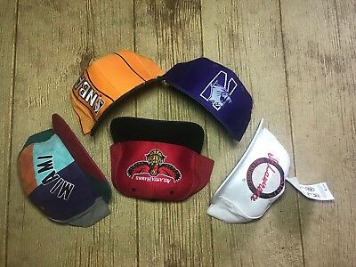Lot Of 5 Vintage Logo 7 The Game New Era Snapback Hats Miami NBA Script Big Logo
