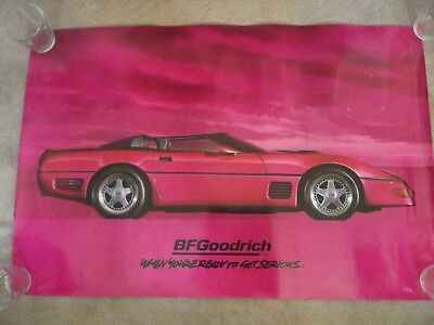 1994 BF GOODRICH Poster of 1990 Callaway Twin Turbo Corvette Speedster