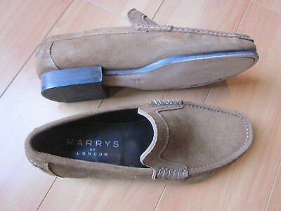 3075ff8da49d4 Harrys Of London Mens 9 Slip On Loafers Light Brown Suede Size 42 Made in  Italy