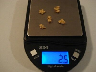 Gold Nuggets--2.5 Grams--Natural--West Australian Goldfields--Prospector Direct