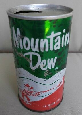 Vintage Mountain Dew Hillbilly Tab Top Soda Can