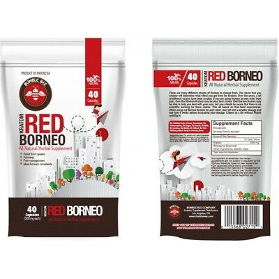 Red Borneo All Natural Herbal Supplement 40 Capsules  FREE SHIPPING