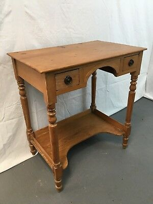 Antique Victorian pine wash stand - ladies desk-dressing table 2 drawers #1905LU