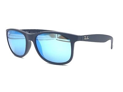 c2bb36df4d6 Ray-Ban RB4202 6153 55 Andy Sunglass Blue  Blue Mirror Lenses Authentic 55mm