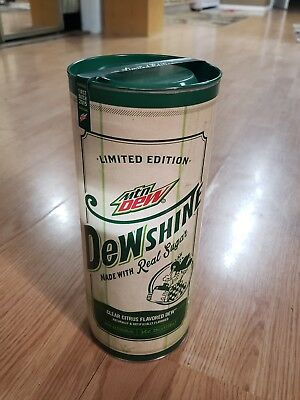 Mountain Dew DEWshine, unopened 25 Fl Oz, Limited Edition Collectible Glass Jug
