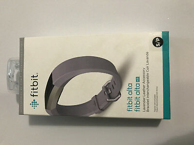 Fitbit Alta HR Accessory Band Leather LAVENDER Small Original Fitbit NEW
