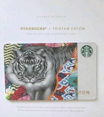 Starbucks 2018 Tristan Eaton Special Edition 🐅 Sumatra Coffee Stories gift card
