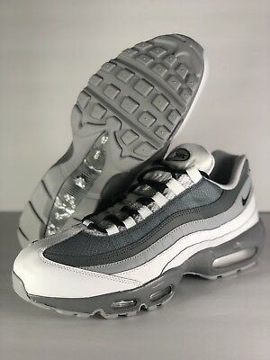 8e9dd05b7b MENS NIKE AIR Max 95 Id White-Cool Grey-Black Sz 9.5 [818592-995 ...