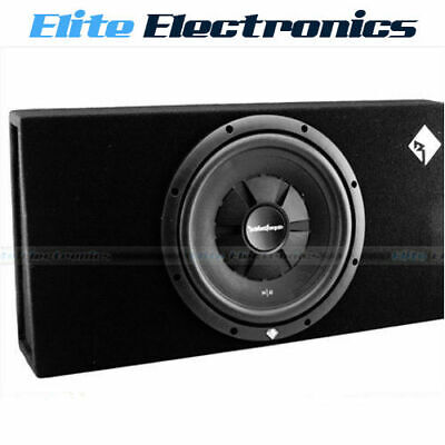 "Rockford Fosgate R2S-1X12 250W Rms 12"" Shallow Loaded Enclosure Subwoofer Box"