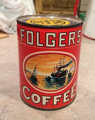 Vintage Coffee Tin Folgers Puzzle Advertising Toy Un Opened Barista Collectible