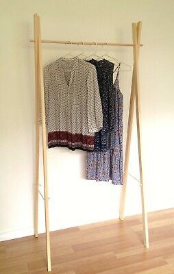 Adult Clothes Rack, Wooden Clothing Rail, Clothes Hanger, Market Display Stand