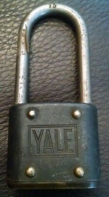 Vintage Antique Unique Metal Yale Padlock Lock No key The Yale & Towne MFG Co