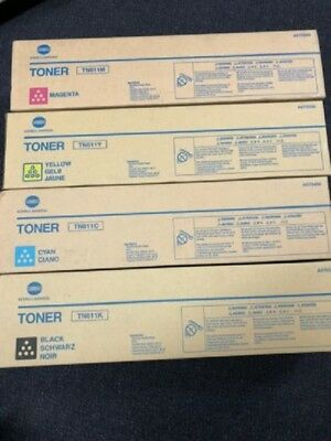 Set of 4 Genuine Konica Minolta Bizhub TN611M/TN611C/TN611K/TN611Y