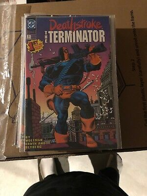 Deathstroke, the Terminator 1-18 annual 1 complete run
