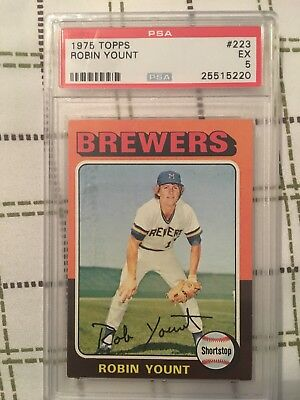 1975 Topps Robin Yount Rookie Psa Graded Ex5
