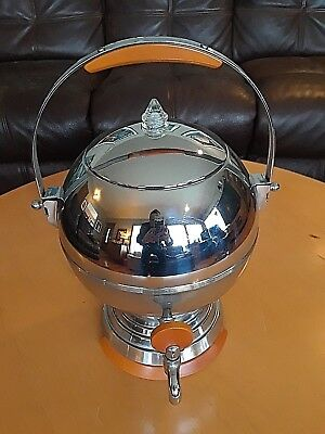 VTG Art Deco Manning&Bowman Chrome/Butterscotch Catalin Coffee Percolator Tested